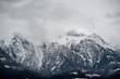 canvas print picture - Berg in Wolken verhüllt