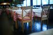 Leinwandbild Motiv table setting restaurant / cutlery on a table in a cafe, the concept of beautiful food, European style