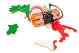 Terrorist Attacks in Italy concept. 3D rendering