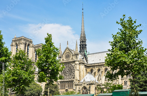 fototapeta na ścianę Notre-Dame de Paris, one of the finest examples of French Gothic architecture, Europe.