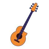 Acoustic guitar music instrument blue lines