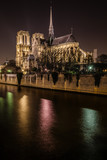 Notre-Dame de Paris Cathedral at NIght