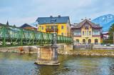 The old bridge in Bad Ischl, Salzkammergut, Austria