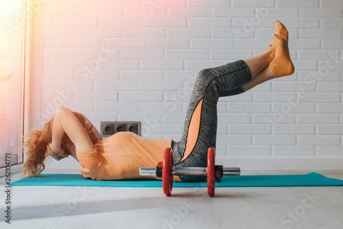 canvas print picture woman doing gymnastics or training