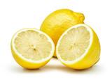 fresh lemons isolated on white background