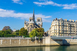 View of the cathedral of Notre Dame and the river Seine