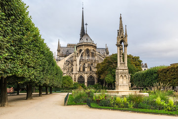 Notre Dame de Paris cathedral , Paris, France