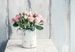 Leinwandbild Motiv Bouquet of pink roses.