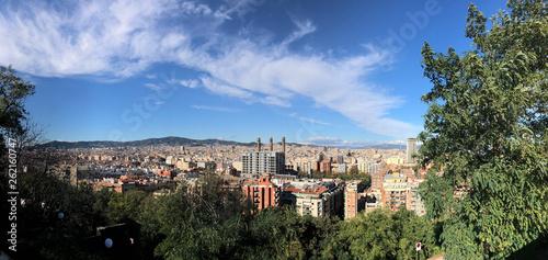 fototapeta na ścianę Panoramic Barcelona city view