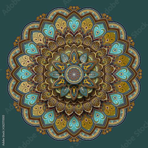 Flower motif pattern design - 262170583