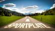 canvas print picture - Schild 401 - Sportplatz
