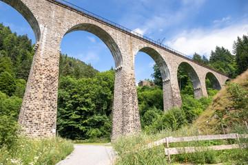 the Ravenna Bridge railway viaduct on the Höllental Railway line in the Black Forest, in Breitnau, Breisgau-Hochschwarzwald, Baden-Württemberg, Germany
