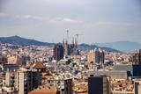 Urban skyline of Barcelona with the Sagrada Familia