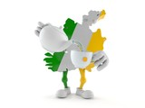 Ireland character holding tea cup