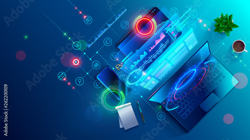 Creating software and website for different digital platform desktop pc, laptop, tablet, mobile phone. Development, design and coding web and offline app. Designing interface and code of programs.
