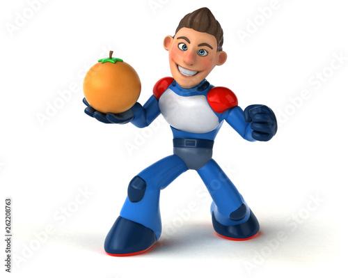 Super modern superhero - 3D Illustration - 262208763