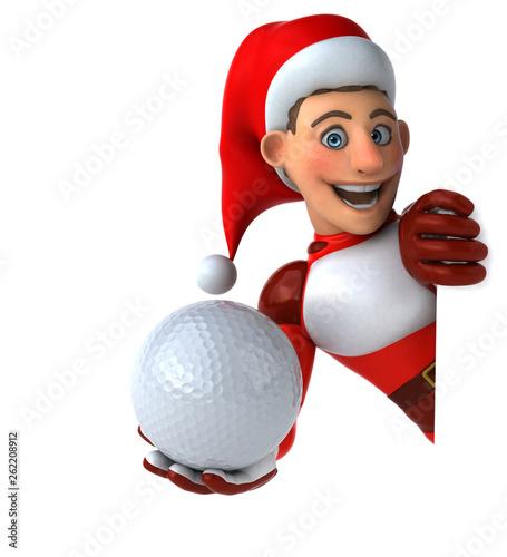 Fun Super Santa Claus - 3D Illustration - 262208912