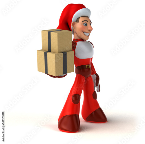 Fun Super Santa Claus - 3D Illustration - 262209318