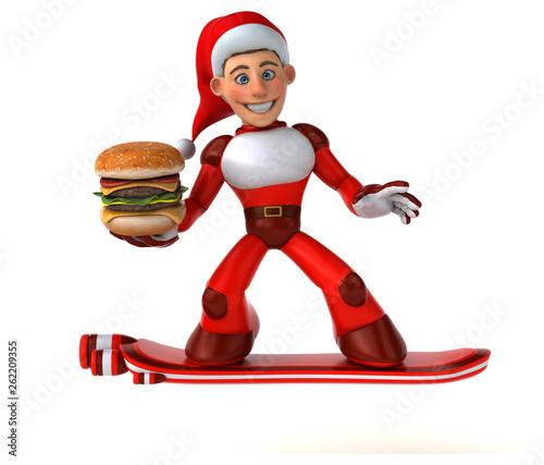 Fun Super Santa Claus - 3D Illustration - 262209355