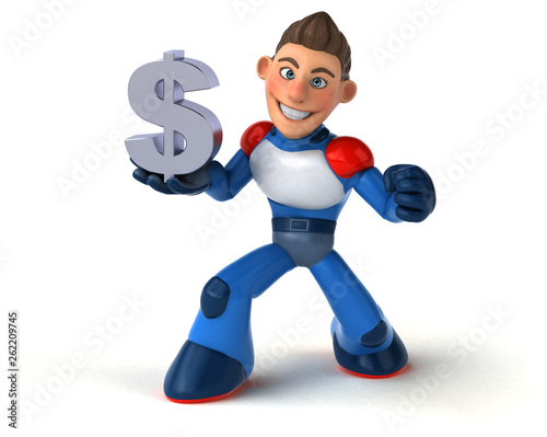 Super modern superhero - 3D Illustration - 262209745