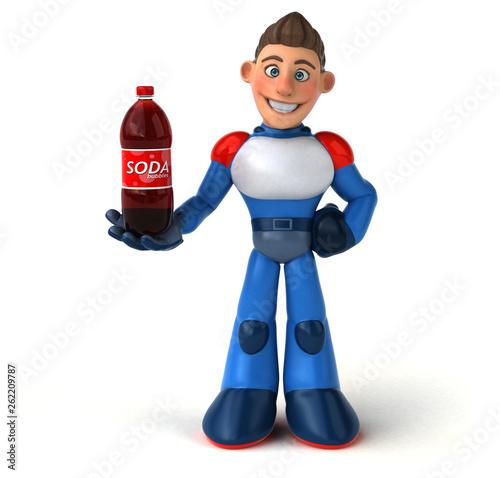 Super modern superhero - 3D Illustration - 262209787