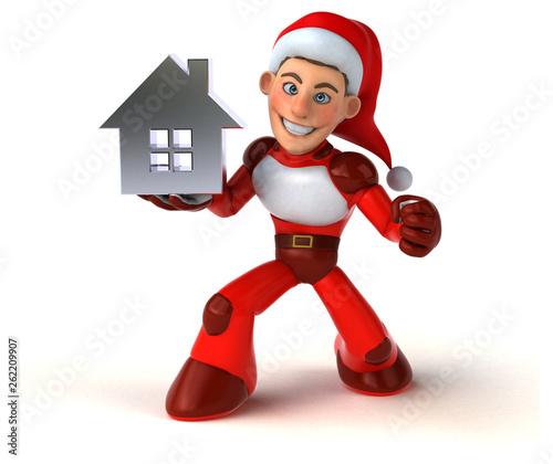 Fun Super Santa Claus - 3D Illustration - 262209907