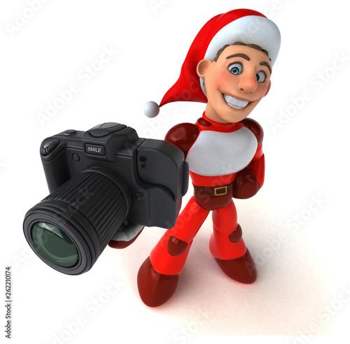 Fun Super Santa Claus - 3D Illustration - 262210174