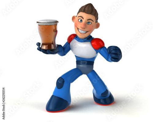 Super modern superhero - 3D Illustration - 262210354