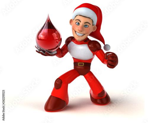 Fun Super Santa Claus - 3D Illustration - 262210523