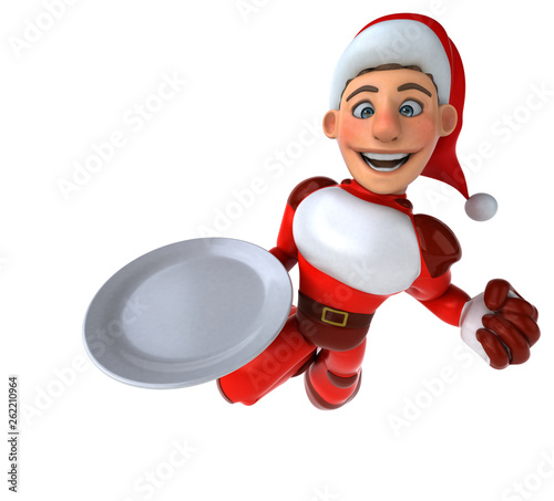 Fun Super Santa Claus - 3D Illustration - 262210964