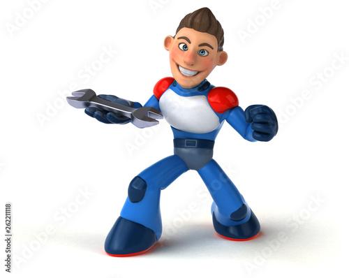 Super modern superhero - 3D Illustration - 262211118