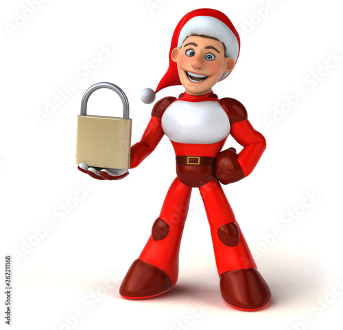 Fun Super Santa Claus - 3D Illustration - 262211168