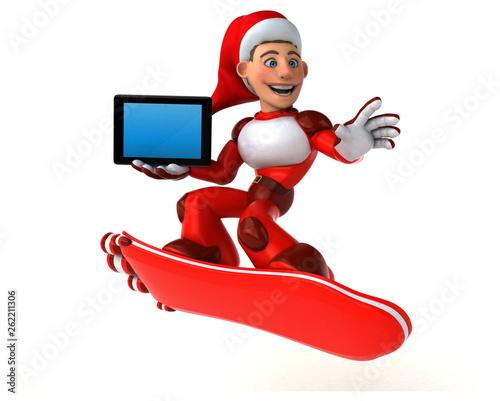 Fun Super Santa Claus - 3D Illustration - 262211306