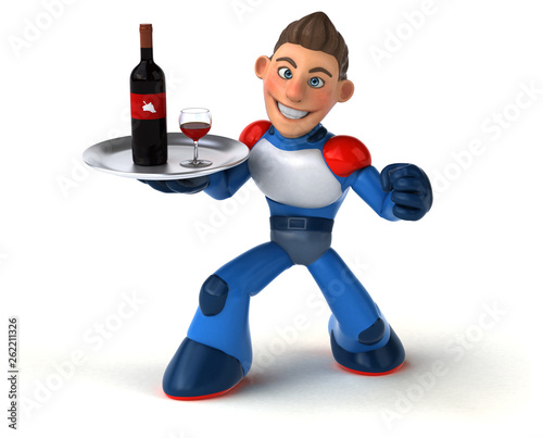 Super modern superhero - 3D Illustration - 262211326