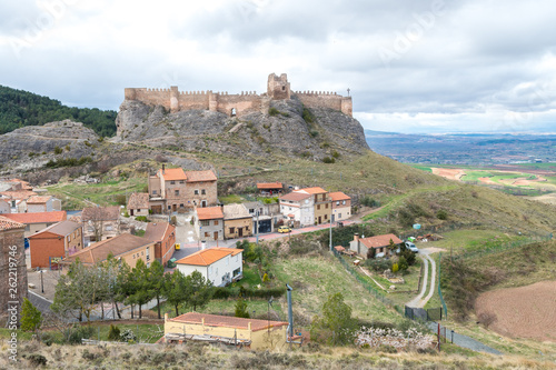 canvas print picture abandoned countryside town of Spain