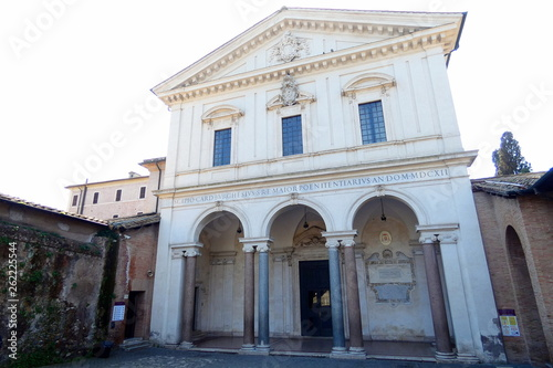 fototapeta na ścianę basilica di san sebastiano fuori le mura,roma,italia.
