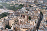 Paris buildings and skyline, aerial view from Eiffel Tower