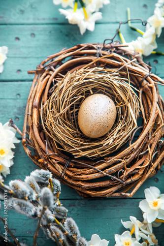 Easter concept on wood © mythja