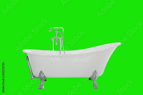 Leinwandbild Motiv Beautiful luxury vintage bathtub decoration in bathroom interior