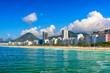 Quadro Copacabana beach in Rio de Janeiro, Brazil. Copacabana beach is the most famous beach in Rio de Janeiro. Sunny cityscape of Rio de Janeiro