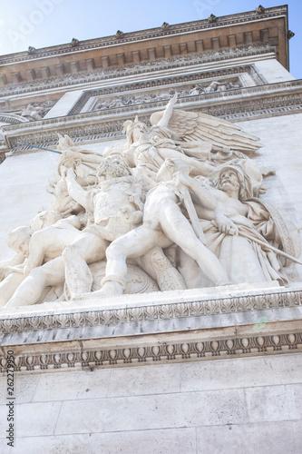 canvas print picture arc de triomphe im Detail