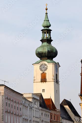 canvas print picture Turm der Pfarrkirche Wels