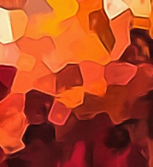 Abstract watercolor geometric background. Very colorful warm texture pattern.