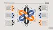 Flower chart slide template design