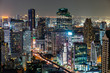 nighttime skyline of a big modern city - 262301721