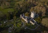 Muckross Abbey aerial view. Killarney. Ireland. April 2019