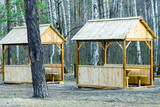 Summerhouses and trees