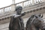 Equestrian ancient Statue of Marcus Aurelius  in the Capitoline