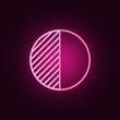 Contrast icon. Elements of Web in neon style icons. Simple icon for websites, web design, mobile app, info graphics