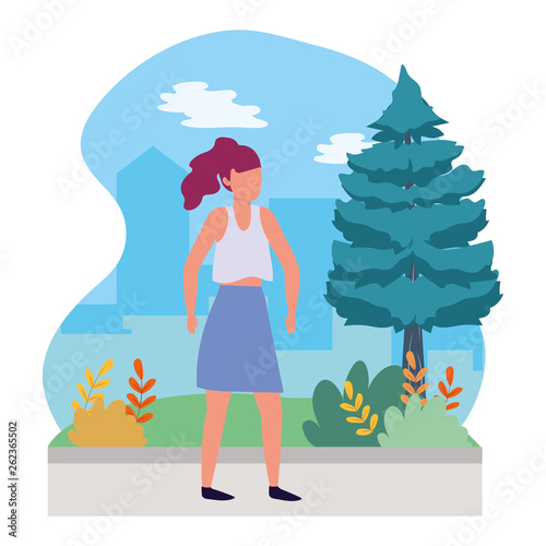 young woman cartoon